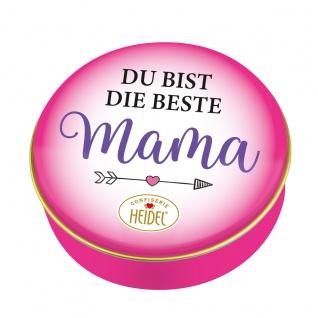 Heidel Du Bist Die Beste Mama Metalldose mit Schokoladen Pralinen 32g
