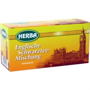 Herba Englische Schwarztee Mischung aromatisch 20 Beutel 30g