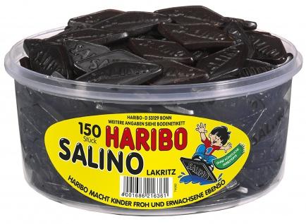 Haribo Salino 150 köstlich würzige Salmiak Lakritz Rauten 1200g