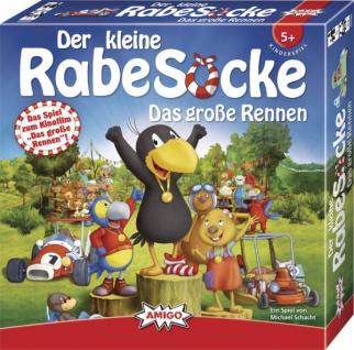 Amigo 05320 Kleiner Rabe Socke Das große Rennen Spiel für Kinder