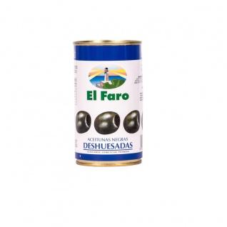 El Faro Oliven schwarz Deshueasadas kernloses Fruchtfleisch 150g