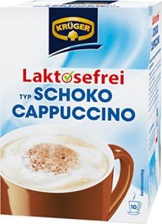 KRÜGER Cappuccino Schoko enthält Koffein Laktosefrei 10x15g 4er Pack