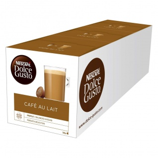 Nescafe Dolce Gusto Cafe Au Lait 3x16 Pods Kaffeegenuss 3er Pack