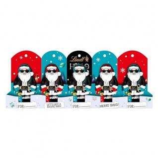 Lindt Hello Xmas Mini Santa aus Vollmilchschokolade 50g 5er Pack