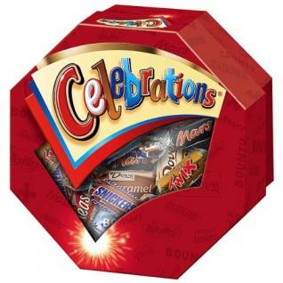 Celebrations SchokoladenPralinen 8 fach sortiert Geschenkbox 186g
