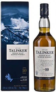 Talisker Single Malt Whisky 10 Years Old + GB 45, 8% 0, 7 l