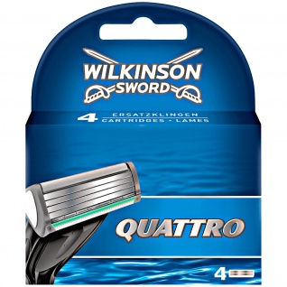Wilkinson Sword Quattro 4 Klingen in einer Packung für Männer