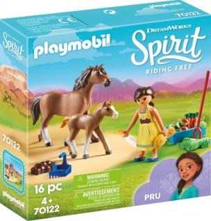 Playmobil Dreamworks Spirit Spielset Pru mit Pferd und Fohlen 70122