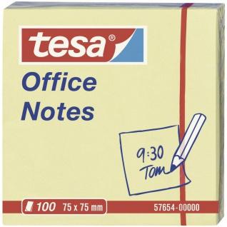 Tesa Office Notes gelb Haftnotitz Block 75mm x 75mm 100 Blatt