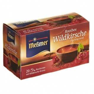Meßmer Rooibos Tee Wildkirsche fruchtig milder Geschmack 12er Pack