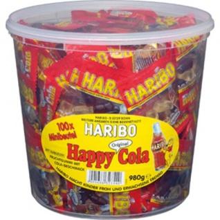 Haribo Happy Cola ohne künstliche Farbstoffe 100 Minibeutel 980g