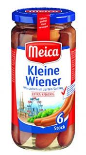 Meica Kleine Wiener extra knackig laktose- und glutenfrei 6Stück 150g
