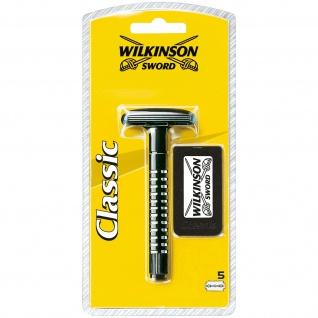 Wilkinson Sword Classic Apparat mit 5 Klingen für eine sichere Rasur
