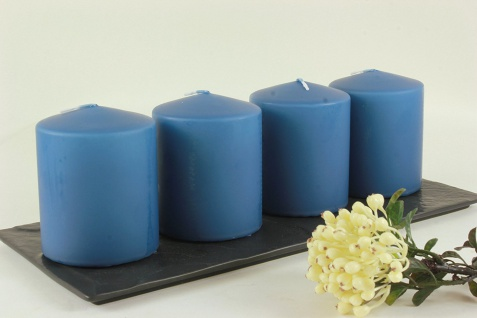 Kerzen Stumpenkerzen Candle saphir 80x60mm RAL Qualität 1 Stück