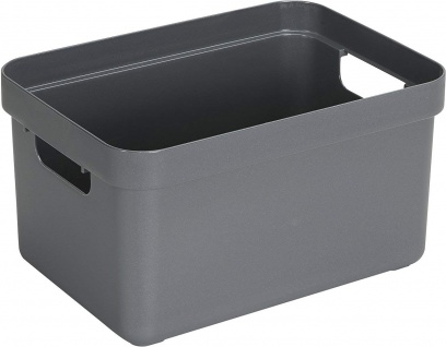 Sunware Aufbewahrungsbox Sigma Home aus Kunststoff, Farbe: anthrazit 13l