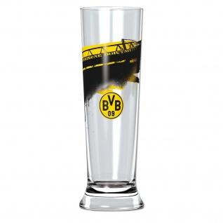 Pilsglas mit Südtribune Borussia Dortmund schwarz gelb 300ml