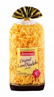 Jeremias Bandnudeln 4 mm gewalzt, Gourmet Frischei-Landnudeln, 2er Pack (2 x 500 g Beutel)