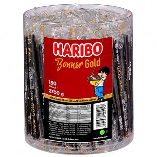 Haribo Bonner Gold Lakritz 150 einzeln verpackte Lakritzstangen 2700g