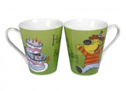 Kindergeburtstagstasse grün Geschenkidee festliche Tasse 1 Stück