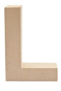 """Pappmache Buchstabe """" L"""" stehend zum basteln kreativ Rico Design Idee"""