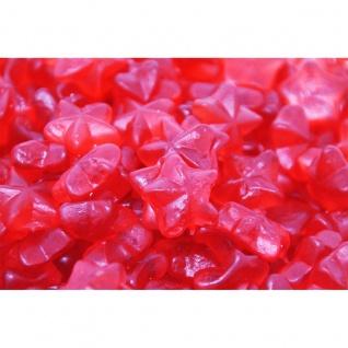 Fruchtgummi rote Glühwein Sterne mit Zimtgeschmack ohne Alkohol 1000g