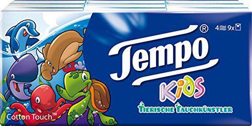 """Tempo Taschentücher """" Kids"""" 9 x 5 Tücher, 5er Pack (45 Päckchen) - Vorschau"""