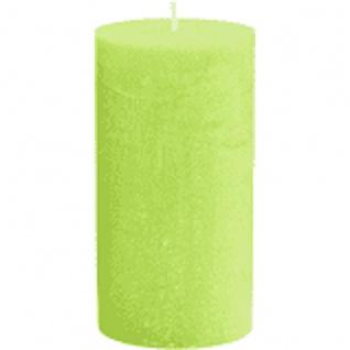Zylinder Kerze hellgrün Euro Trend Candles Durchmesser 10cm x 25cm