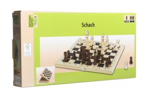 Natural Games handgemachte Schachfiguren Schachkassette hell 29 x 29cm