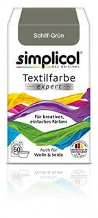 """Simplicol Textilfarbe expert -Für kreatives, einfaches Färben - 1715 """" Schilf-Grün"""" Neu!"""