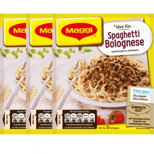 Maggi Fix für Spaghetti Bolognese mit Kräutern verfeinert 38g 3er Pack