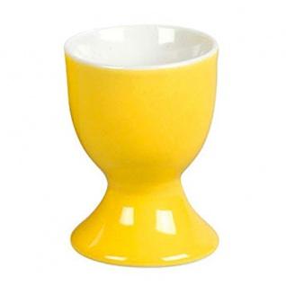 Ritzenhoff und Breker Doppio Eierbecher Sonnengelb aus Porzellan 5cm