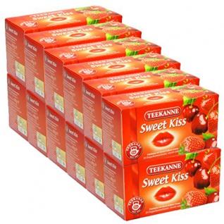 Teekanne Sweet Kiss Früchtetee Kirsch Erdbeergeschmack 12er Pack
