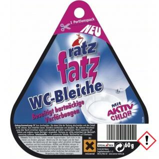 ratz fatz WC Bleiche Aktiv Chlor WC Reiniger Soforthilfe 60g 12er Pack