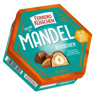 Ferrero Küsschen Mandel 20 Pralinen einzeln mit Keksstückchen 178g