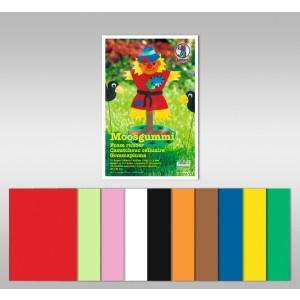 Moosgummi 2mm, 10 Blatt/10 Farben
