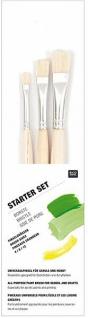 Roco Design Pinsel Starter Borsten Set 3 tlg in verschiedenen größen