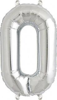Folienballon 0 silber