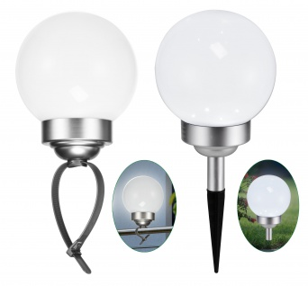 LED Solar Kugellampe DM 15cm 2 in 1