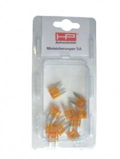 Mini - Flachsicherung 5 Amp., Inh. 10 Stk. 81110