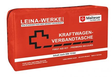 Leine Werke KFZ Verbandtasche Compact in rot Inhalt DIN 13164 - Vorschau