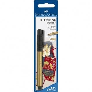 Faber Castell Pitt Artist Pen MetallicTuschestift Farbe Gold
