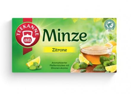 Teekanne Minze Zitrone Pfefferminztee mit Zitronenaroma 20 Beutel