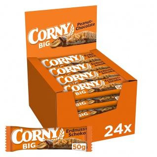 Corny Big Peanut Müsliriegel Schokolade mit Erdnüssen 50g 24er Pack
