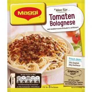 Maggi Fix für Spaghetti Tomaten Bolognese mediterran verfeinert 50g
