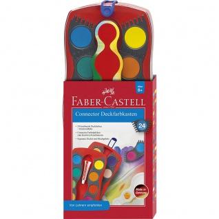 Faber Castell Deckfarbkasten Connector mit 24 leuchtenden Farben