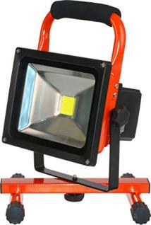 Hückmann XCell LED-Arbeitsscheinwer 137996 20W Akku/Netzbetrieb Handscheinwerfer 4042883379961