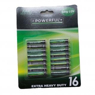 Koopman Batterie AAA LR6 1.5 Volt Alkaline 16 Stück pro Packung