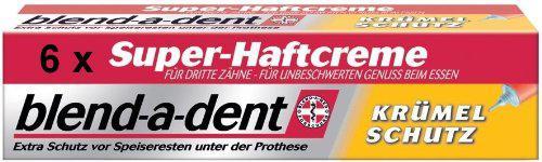 6 blend-a-dent Super-Haftcreme Krümelschutz je 40 g