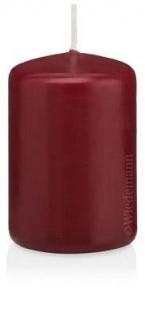 16 Stumpenkerzen in Cellophan 100/60mm (Bordeaux)