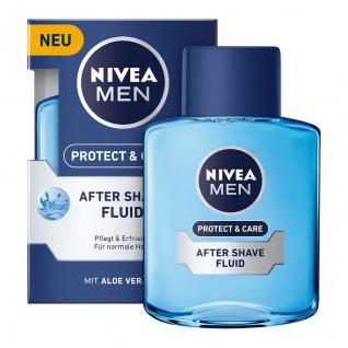 Nivea Men Protect Care After Shave Fluid für normale Haut 3er Pack